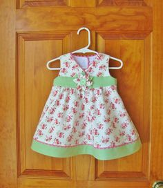 Baby Girl sleeveless dress with matching by ForTheLoveOfSmocking