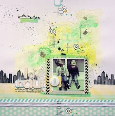 #papercraft #scrapbook #layout    Gaëlle Crusty Ly