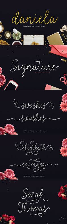 I love me a beautiful, monoline script font. Daniela is just one of the 45 killer fonts in this end-of-year bundle.
