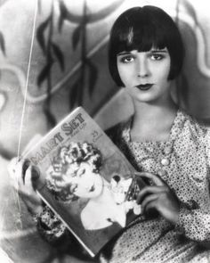 Louise Brooks. She was a beauty. Took risks. Love that!