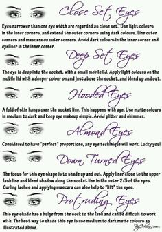Makeup tips for different eye shapes
