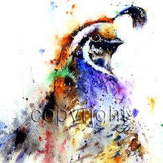 QUAIL+Watercolor+Print+by+Dean+Crouser+por+DeanCrouserArt+en+Etsy