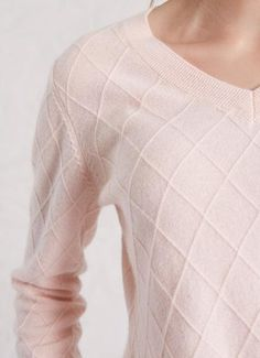 Cashmere in baby pink with cable knit diamond details Cable Knit, Cashmere, Pullover, Sweaters, Shopping, Fashion, Moda, Cashmere Wool, Sweater