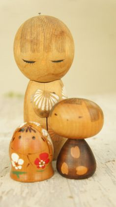 Vintage Kokeshi Doll Collection by SycamoreVintage on Etsy, $25.99
