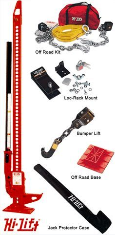 Hi-Lift Jack case...bumper lift...and off road kit