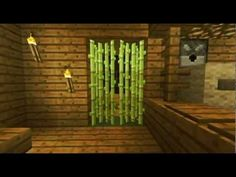 The HOTEL TREE: EPIC Minecraft Tree House. Love the sugarcane doorway.