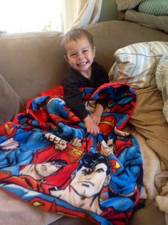 Superman Soft Toddler Baby Blanket Red Minky and by LilPunkyKid, $30.00