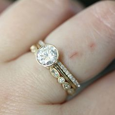 65mm Forever Brilliant Moissanite Engagement Ring by louisagallery, $800.00