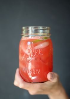 You're going to love this easy recipe for Watermelon Agua Fresca. This recipe is great because it doesn't use any refined sugar, just watermelon, lime and honey. Easy Cocktails, Holiday Cocktails, Cocktail Recipes, Drink Recipes, Coffee To Water Ratio, Agua Fresca Recipe, Margarita On The Rocks, Coffee Coupons