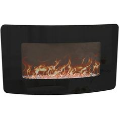 Decor Flame Wall-Mounted Fireplace Heater Decor with Glass Wall Mounted Fireplace, Fireplace Heater, Fake Fireplace, Electric Fireplace, Crushed Glass, Fireplace Accessories, Eclectic Decor, The Ordinary, Warm And Cozy