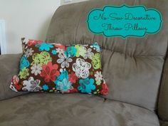 New Sew Decorative Throw Pillows #tutorial via www.jmanandmiller...