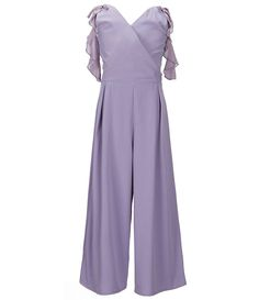 a3336216837 GB Girls Social Big Girls 7-16 Ruffle-Sleeve Jumpsuit Jumpsuit With Sleeves