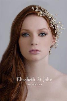 Tocado de novia diosa  vid pelo Perla Cristal por HaydenHarlowPR, $360.00