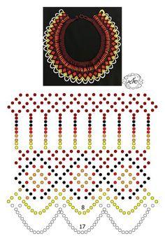 Foto Natali Khovalko Beading Patterns Free, Bead Loom Patterns, Peyote Patterns, Free Beading Tutorials, Diy Necklace Patterns, Beaded Jewelry Patterns, Jewelry Making Tutorials, Beading Projects, Bead Art