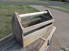 Carpenters Tool Box Tote Storage Garden Planter Toy by UnhungHarps