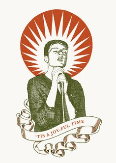 "RS180 - ""Ian Curtis"" Icon card by Ben Lamb Illustration & Design"