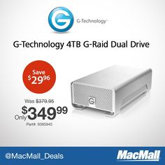 #PriceDrop on @GtechStorage 4TB RAID storage device. To see the lowest price, just click on the image!
