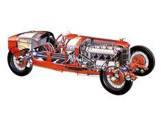 Alfa Romeo Tipo P2 1924 Cutaway