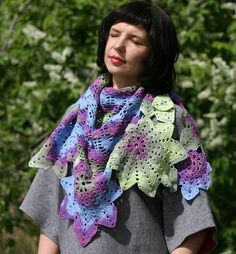 Crochet Shawl Shawl For Woman Crochet Wrap Stole Gift For