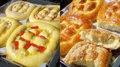 Τα πιο αφράτα αλμυρά ψωμάκια τώρα και γεμιστά! Hot Dog Buns, Hot Dogs, Waffles, Rolls, Sweets, Bread, Candy, Breakfast, Food