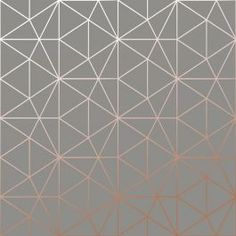 Exclusive Metro Prism Geometric Triangle Wallpaper features a contemporary design is made is of metallic copper geometric triangles on a matte charcoal grey background. Free UK delivery available