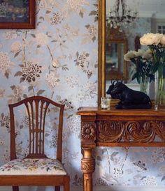 Fabric: Songbird by Bennison. Bennison will make this design in wallpaper too.