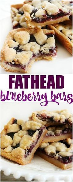 Fathead blueberry bars are an easy dessert that I bet you thought you couldn't have on the low carb/ keto diet. With this dough it is possible. Low carb Keto Fathead dough sugar free gluten free