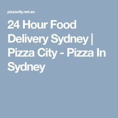 Craving for Pizza? Welcome to Pizza City, where great tasting Pizza awaits you everyday here at the heart of Sydney, Australia. Pizza City, Cravings, Sydney, Delivery, Food, Essen, Meals, Yemek, Eten