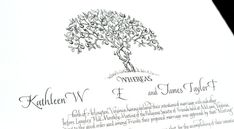 Sally Sanders Entwined Trees from Wedding Certificate