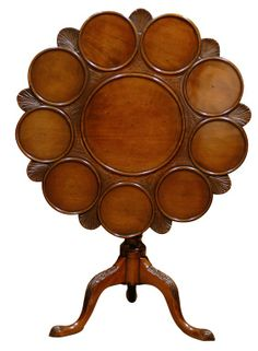 A rare & early 1800s supper table Tilt top unknown maker