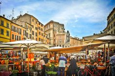market at campo dei fiori - rome, italy Rome Travel, Italy Travel, Piazza Navona, Small Group Tours, Italy Tours, Local Events, Installation Art, Croatia, The Neighbourhood