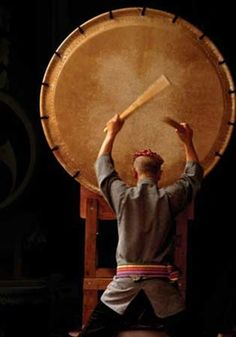 """""""Your heart is a taiko. All people listen to a taiko rhythm, dontsuku-dontsuku in their mothers womb."""" Spoken very beautifully"""