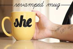Use a free printable pattern to makeover a favorite coffee mug, via HP Create Blog.
