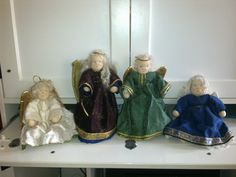 Angels I have made and display at home for christmas