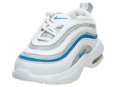 NIKE LITTLE AIR MAX '97 (TD) TODDLER 304111-141 White Blue Shoes