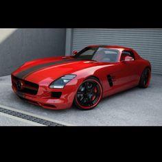 Glorious Rapid Red Mercedes SLS!