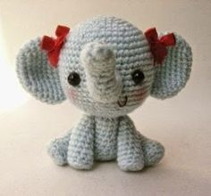 Mesmerizing Crochet an Amigurumi Rabbit Ideas. Lovely Crochet an Amigurumi Rabbit Ideas. Crochet Simple, Crochet Diy, Crochet Amigurumi, Amigurumi Patterns, Crochet Crafts, Crochet Dolls, Yarn Crafts, Crochet Patterns, Crochet Elephant Pattern Free