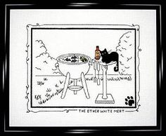 """Calico Crossroads """"The Other White Meat"""" Counted Cross Stitch Kit adapted from Kats by Kelley Artwork - DISCONTINUED! by WhimseysByAnne, $20.00"""