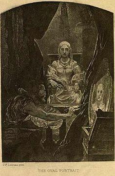 """A un ritratto ovale invece Poe ha dedicato uno dei suoi racconti più famosi, intitolato appunto """"Il ritratto ovale"""". Brrrr."""