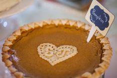 11 Displays for a Slice of Pi Day Wedding Inspiration Pi Day Wedding, Garden Wedding, Homemade Pumpkin Pie, Traditional Wedding Cake, Pie Dessert, Real Weddings, Wedding Cakes, Sweet Treats, Wedding Photos