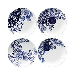 Buy Loveramics Willow Love Story Side Plates - Set of 4 - Pottery Painting, Ceramic Painting, Ceramic Art, Blue And White China, Blue China, Delft, Ceramic Plates, Ceramic Pottery, Assiette Design