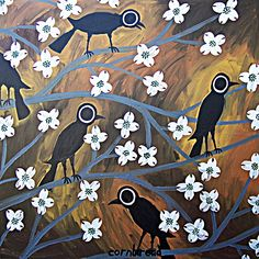 Crows in the Dogwood