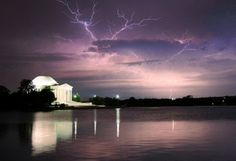 Anvil crawler lightning over the Jefferson Memorial in Washington, D.C. - Capital Weather Gang - The Washington Post