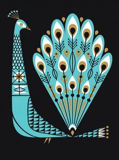 Lab Partners // Proud as a Peacock – Modern Kiddo illustration Art And Illustration, Vintage Illustrations, Ouvrages D'art, Art Graphique, Grafik Design, Art Design, Illustrators, Graphic Art, Art Photography