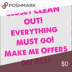 ♡♡MAKE ME AN OFFER♡♡ Clearing out my closet! Make me an offer! Other
