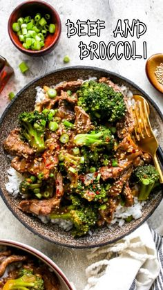 Broccoli Recipes, Meat Recipes, Asian Recipes, Chicken Recipes, Dinner Recipes, Cooking Recipes, Healthy Recipes, Beef Dishes, Food Dishes