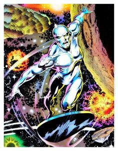 Silver Surfer Respect Thread - Naruto Forums: The first and best . Comic Book Artists, Comic Books Art, Comic Book Covers, Comic Art, Superhero Characters, Comic Book Characters, Comic Book Heroes, Marvel Comics Art, Marvel Heroes