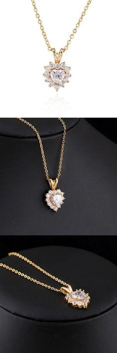 Necklace pendants with numbers kuniu 18k plated zircon pendant heart necklace women jewelry chain #jewelry #pendants #necklace #necklace #pendants #amazon #necklace #pendants #with #sayings #necklaces #pendants #canada