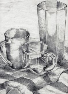 Drawing 03 Still Life by FrauA on DeviantArt - Malen Graphite Drawings, Pencil Art Drawings, Drawing Sketches, Sketching, Hatch Drawing, Basic Drawing, Still Life Sketch, Still Life Drawing, Still Life Pencil Shading