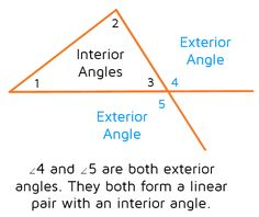 The Exterior Angle Theorem Places to Visit Pinterest Exterior
